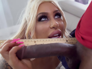 Thick Blonde rides monster BBC with joy blonde