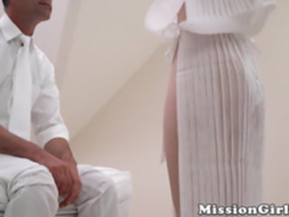 18yo Mormon beauty initiated into the order by hung elder mormon
