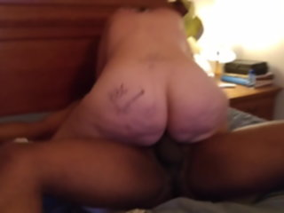White Woman rides BBC hard and deep. British Slut Mom rides