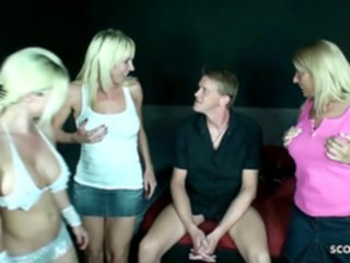 Three German Mom Fuck Stranger at Party in Swingerclub german