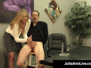 Big Titty Milf Julia Ann Hugs Lucky Dude & Milks His Cock! milf